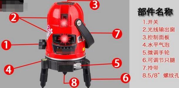 1,红外线水平仪水平报警失灵,激光灯不亮.