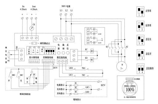 它通过模拟量信号控制,可以接收和反馈4~20ma标准信号,从而可以实现