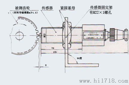 测速传感器cs-1,齿轮转速传感器生产厂家