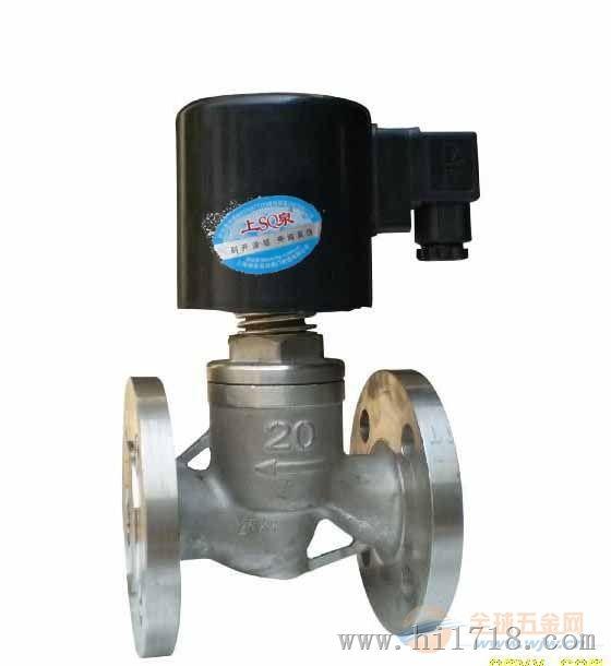 供应商:上海湖泉阀门有限公司 描述:不锈钢法兰式电磁阀图片