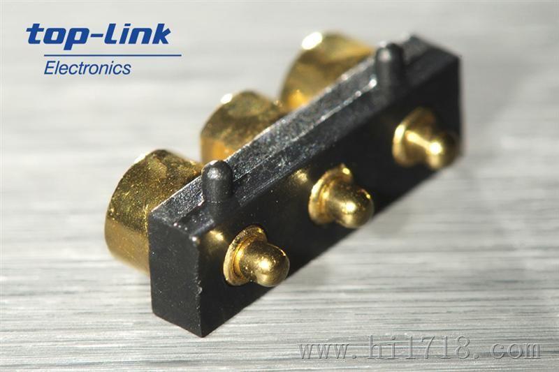 侧面接触型pogo pin连接器