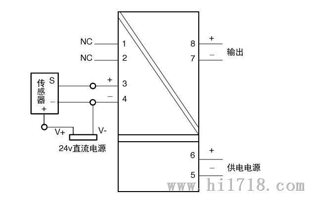 直流电流传感器电源隔离变送器霍尔互感器1800a