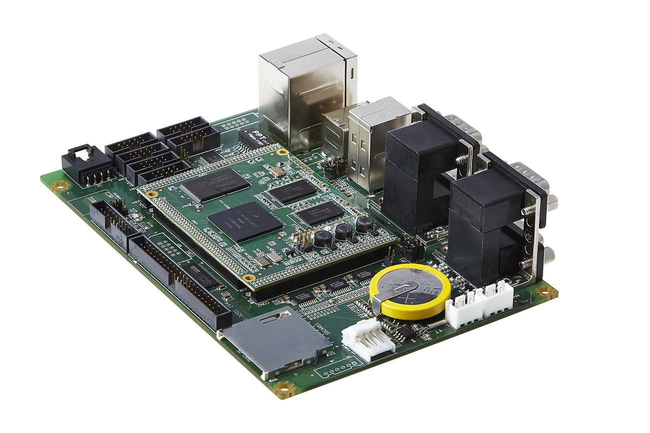 基于飞思卡尔I.mx35系列的平台级工控主板,集多年的工业控制经验精心打造而成。DBG-3201-E1主板接口全部设计光耦隔离功能,8KV电源隔离和抗浪涌设计,EMI电磁干扰测试全面。满足工业级环境要求。DBG-3201具有PC104的紧凑结构和3.5寸板的多功能特点。为适应深度开发需要DBG-3201引出多种常用的总线接口。SOM3201作为DBG3201的核心板,同时支持wince和linux系统。 可广泛应用于汽车多媒体、工厂自动化、建筑控制、智能家居、电子医疗、PND 等产品领域。 ARM定制开发