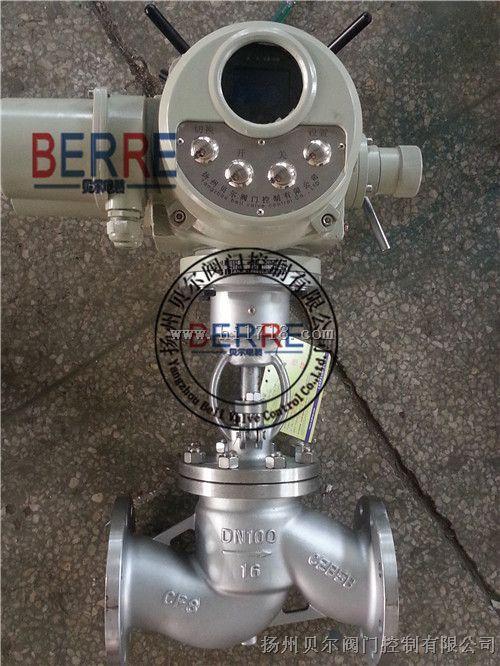 扬州J941W电动截止阀 体积小重量轻