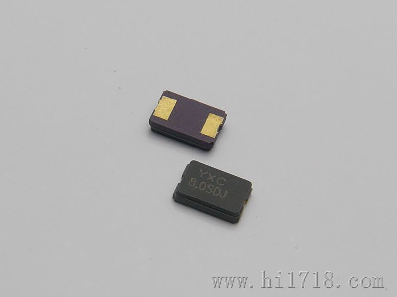 YSX530GA 特点: 5032、2P贴片陶瓷封装、晶体谐振器 高可靠的环境特性 频率稳定性低至10PPM 性价比高 符合RoHS标准,绿色环保 主要参数: 频率范围:8-54MHz 频差(25):10、20、30PPM 老化():3PPM/年 温度范围:-20~+70 -40~+85 负载:7~22PF 静电容():5PF 体积:5*3.