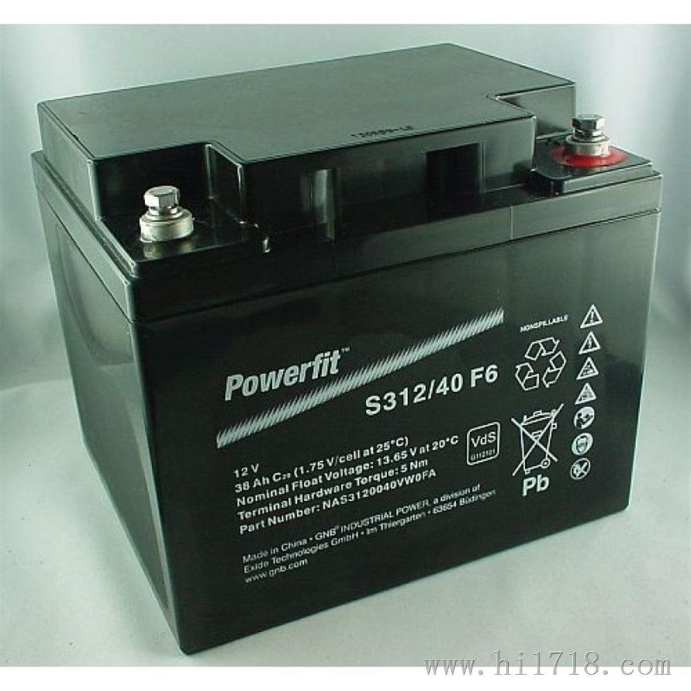 Powerfit/S312/40F6/GNB蓄电池