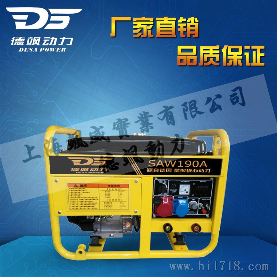汽油发电机带190a电焊机-上海飒威实业有限公司