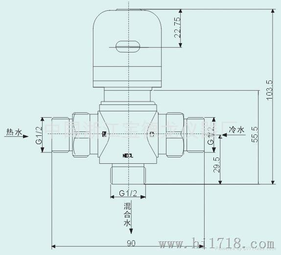 仪器仪表网 供应 仪器仪表配件材料 阀/接头 电磁阀 恒温混水阀(进口