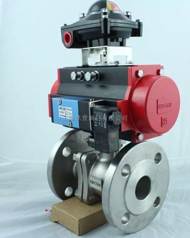 上海专业生产气动法兰球阀厂家    气动不锈钢法兰球阀