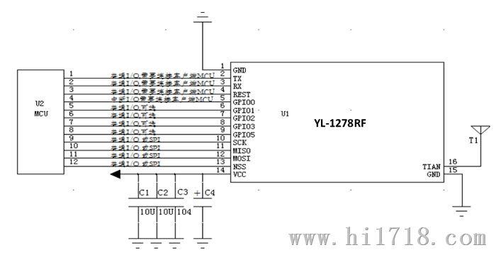 sx1278官方lora电路图