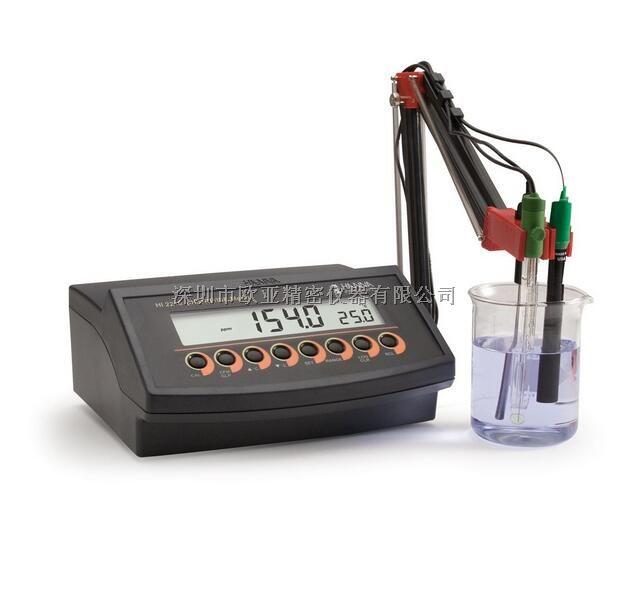 HI2216微电脑酸度pH-氧化还原ORP-离子浓度ISE-温度°C测定仪