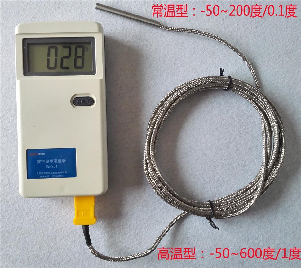 TM-201数字显示密封密闭箱体温度检测仪