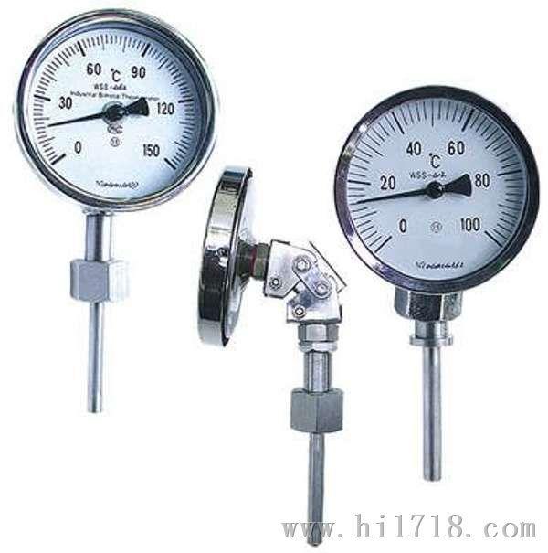 万向型不锈钢双金属温度计_WSS-481F双金属温度计专业生产厂家