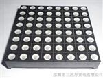 LED点阵模块|工厂批发F1.9共阳5*7橙光单色LED点阵模块组