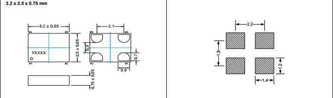8v石英晶振 osc 黑色硅有源晶振
