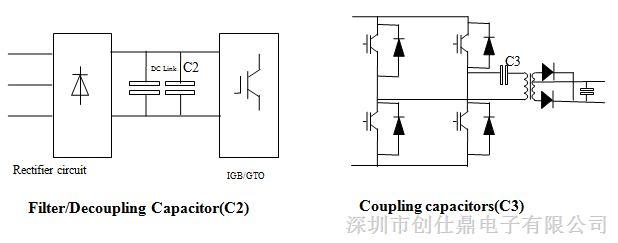 脉冲电容器 广泛应用于电子电力电路中作隔直耦合用