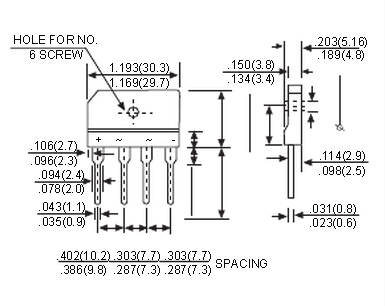 整流器通常由4只二极管组成单相桥式全波整流器和6