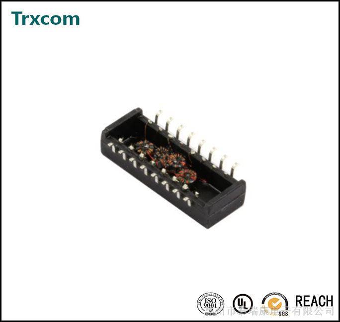 供应超薄10/100兆网络变压器trc41604nl,16pin以太网口,trxcom网络