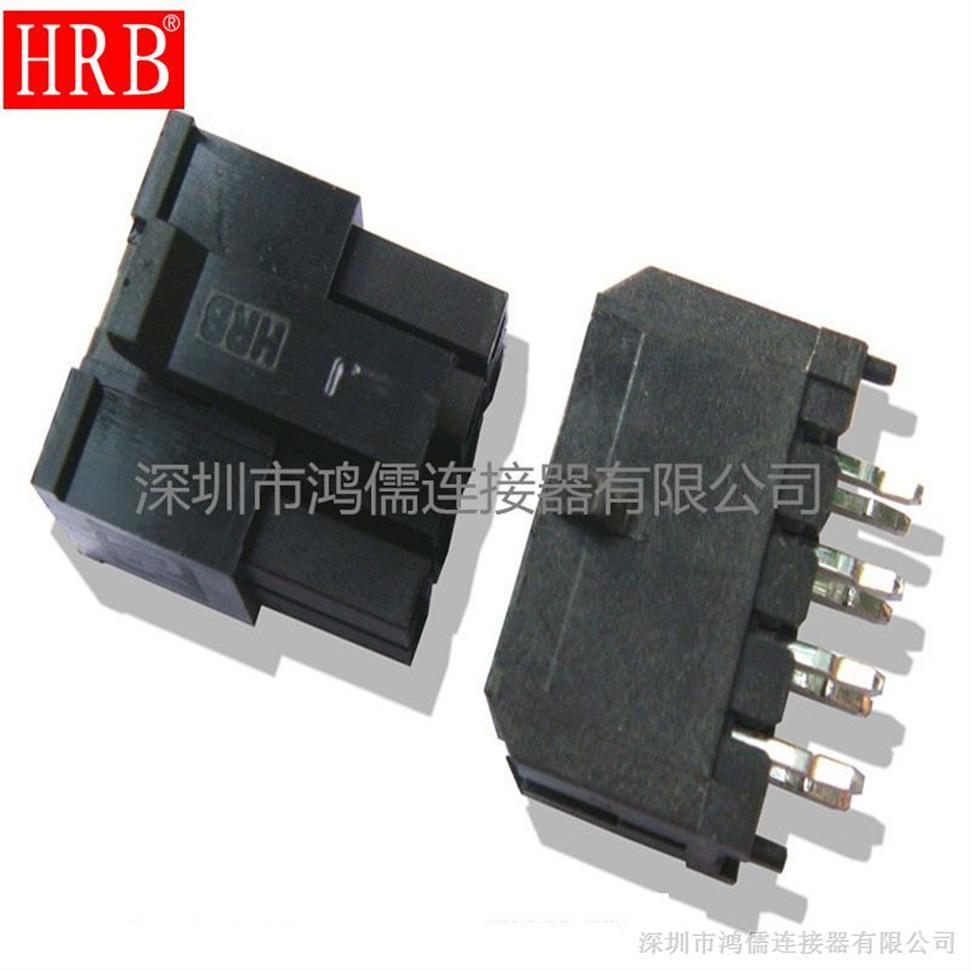 双排180度直针DIP接插件,电动汽车接插件,3.0间距  国产现货