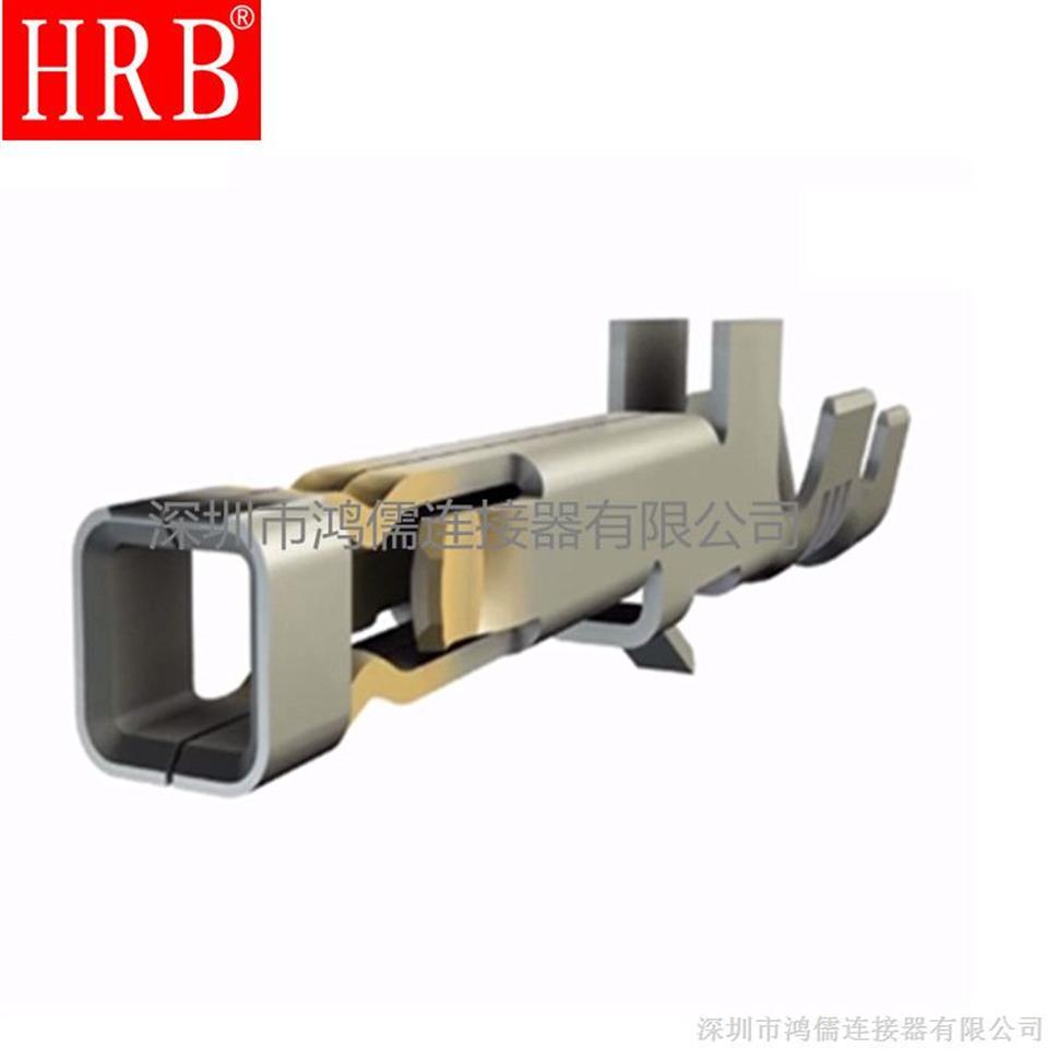 供应HRB磷铜端子 配套胶壳3.5MM间距 压接AWG#16-22