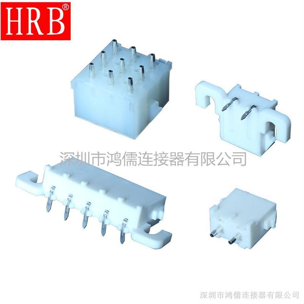 供应63080工业连接器  6.35间距线对板电动设备连接器 GWT材质HRB鸿儒